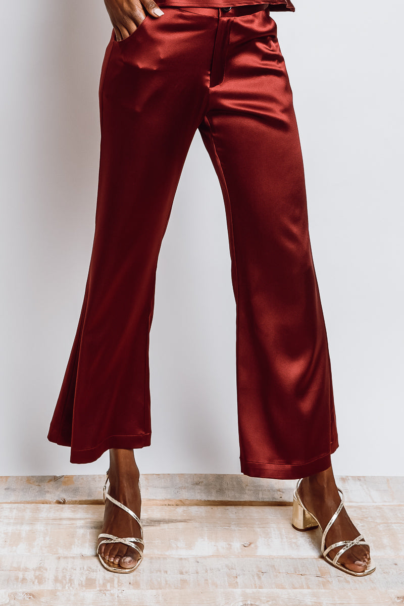 MONTE Ginger Crop Pant - Fever Silk