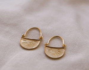 Rising Sun Earrings Gold