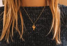 Mojave Cactus Necklace Gold