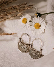 Rising Sun Earrings Silver