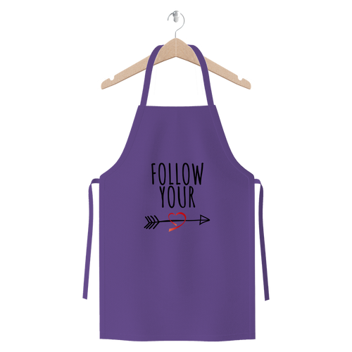 Follow Your Heart II Cotton Twill Apron - Sacred Lotus Gifts