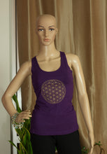 'Flower of Life' Yoga top with Ripped back. - Sacred Lotus Gifts