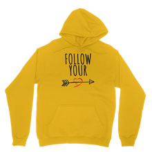 Follow Your Heart II Adult Hoodie - Sacred Lotus Gifts
