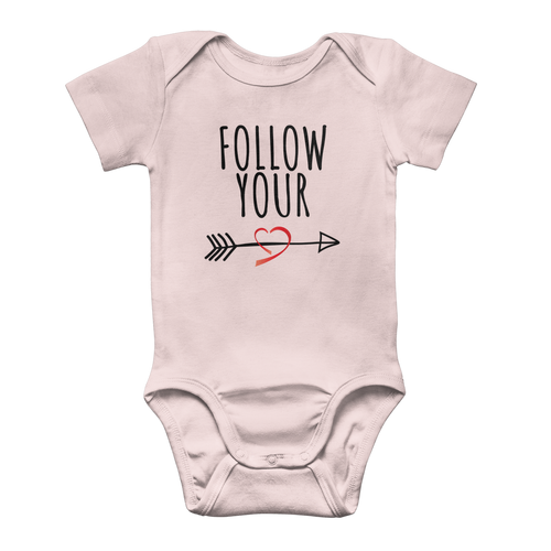 Follow 2 Classic Baby Onesie Bodysuit - Sacred Lotus Gifts
