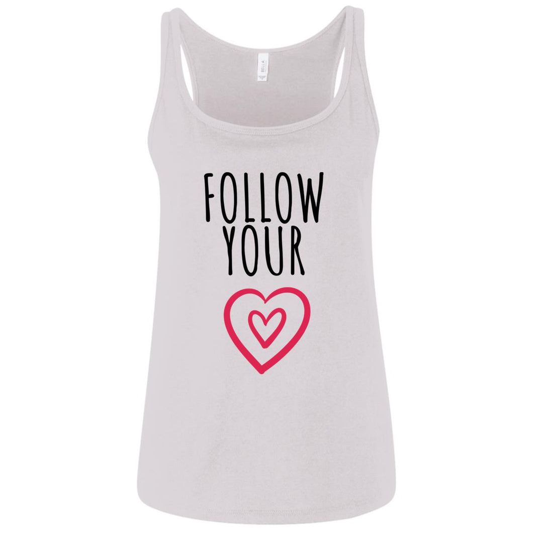 Follow Your Heart Relaxed Jersey Tank - Sacred Lotus Gifts