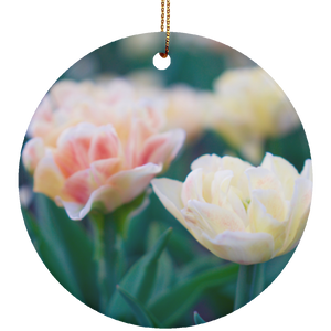 Tulips Ceramic Circle Ornament - Sacred Lotus Gifts