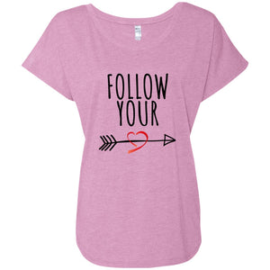 Follow Your Heart IITriblend Dolman Sleeve - Sacred Lotus Gifts