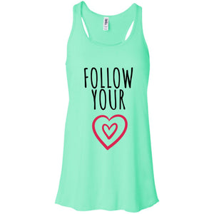 Follow Your Heart Flowy Racerback Tank - Sacred Lotus Gifts