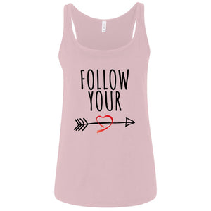 Follow Your Heart II Relaxed Jersey Tank - Sacred Lotus Gifts