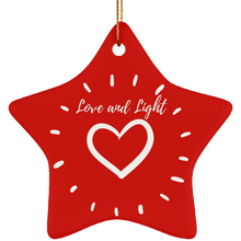 """Love and Light"" Ceramic Star Ornament - Sacred Lotus Gifts"