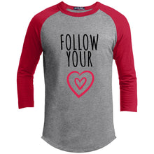 Follow Your Heart Cotton Raglan Sleeve T-Shirt - Sacred Lotus Gifts