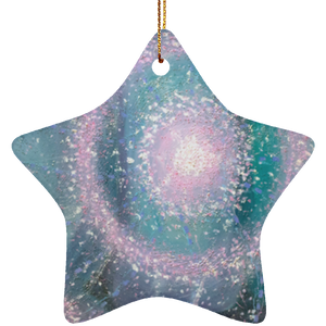"""Healer of the Heart"" Ceramic Star Ornament - Sacred Lotus Gifts"