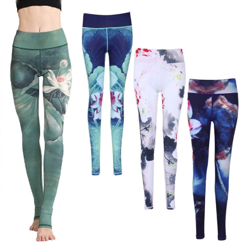 Lotus Printed Leggings - Sacred Lotus Gifts