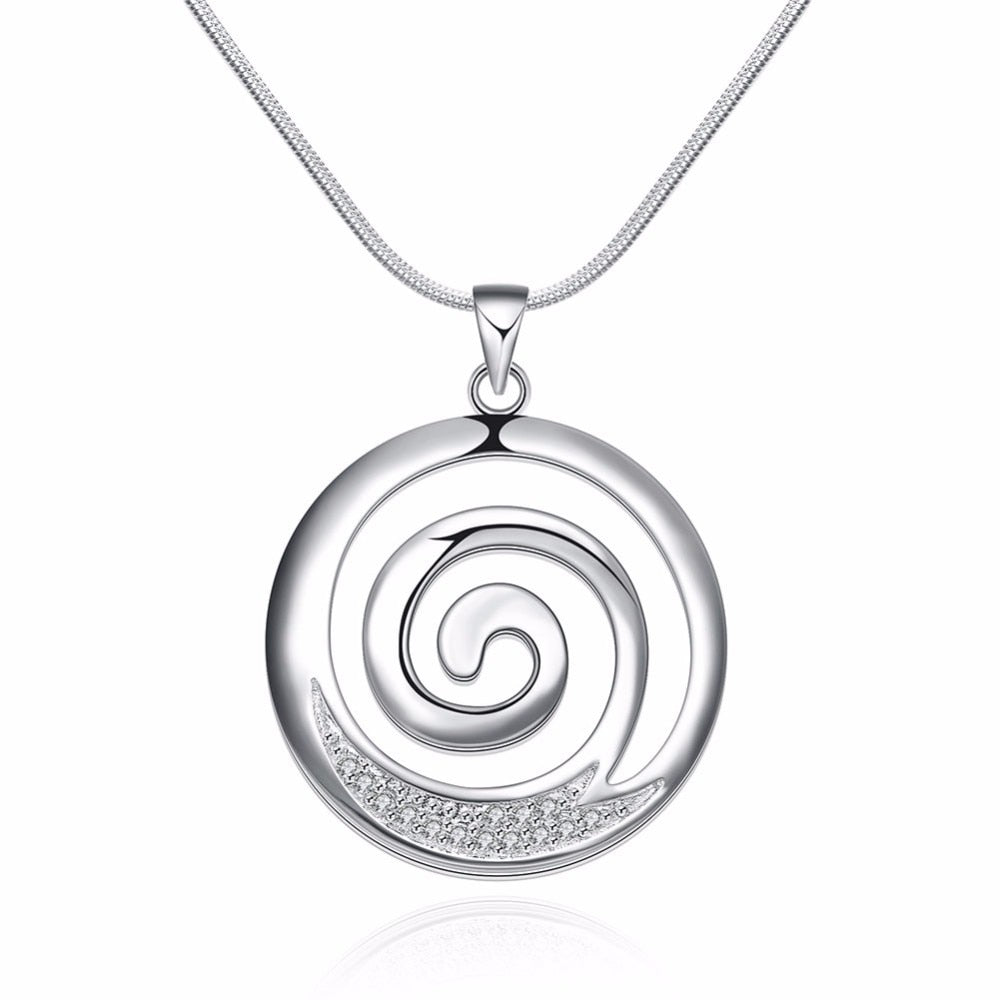 Round Spiral Necklace - Sacred Lotus Gifts