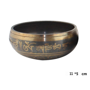 Copper Tibetan Meditation Singing Bowl With Hand Stick - Sacred Lotus Gifts