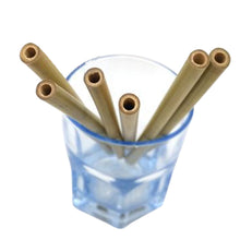 Bamboo Drinking Straws with Cleaning Brush 12pcs - Sacred Lotus Gifts