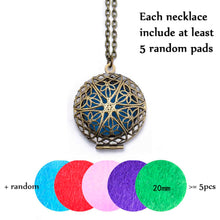 Diffuser Locket Necklace for Essential Oils Antique Bronze Finish - Sacred Lotus Gifts