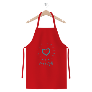 """Love and Light"" Classic Cotton Twill Apron - Sacred Lotus Gifts"