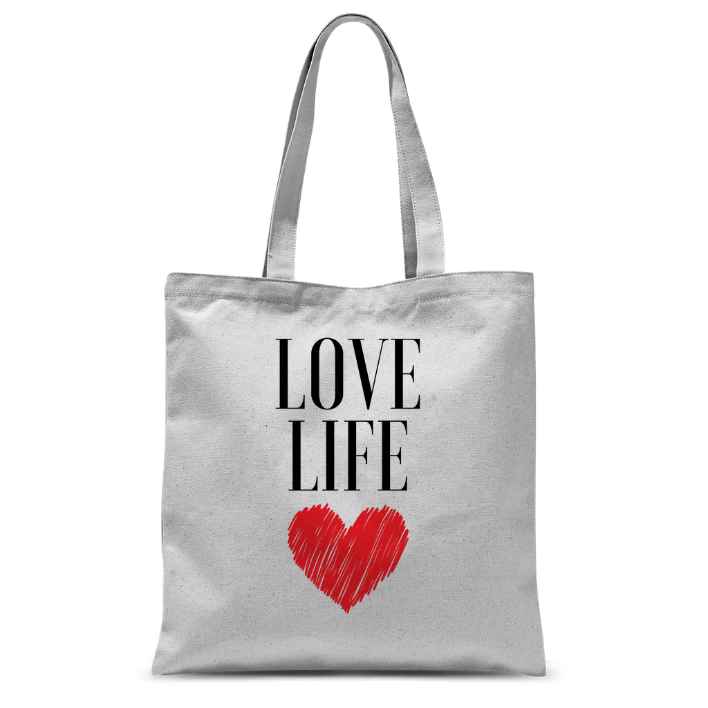 Love Life Classic Sublimation Tote Bag - Sacred Lotus Gifts