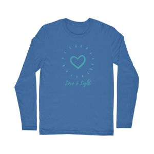 """Love and Light"" Classic Long Sleeve T-Shirt - Sacred Lotus Gifts"