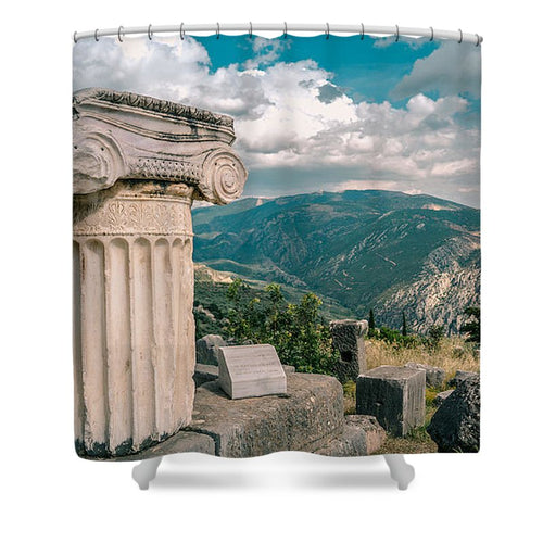 Delphi - Shower Curtain - Sacred Lotus Gifts