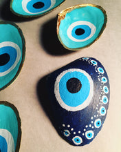 Yoga-inspired Hand-painted shell. Evil Eye Protection. - Sacred Lotus Gifts