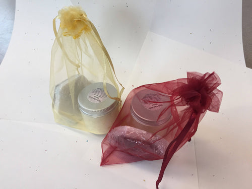 Gift bag of High Vibe body butter and soap! Yoga-inspired, spiritually minded, aromatherapy - Sacred Lotus Gifts