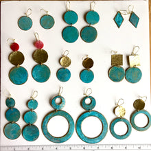 Bronze Patina Ring and Circle Earrings - Sacred Lotus Gifts