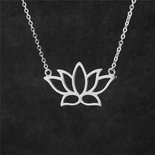 Sterling Silver Lotus Flower Necklace - Sacred Lotus Gifts