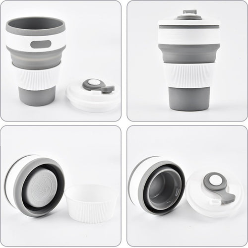 Collapsible Silicone Coffee Cup for Travel - Sacred Lotus Gifts