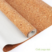 Cork and Latex Ultra Thin 1mm Yoga Mat - Sacred Lotus Gifts