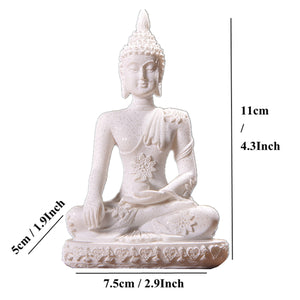 The many faces of Buddha Sandstone Figurines - Sacred Lotus Gifts