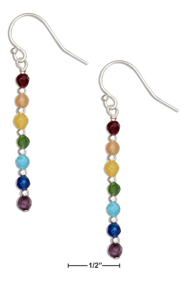 Sterling Silver Chakra Stone Dangle Earrings - Sacred Lotus Gifts