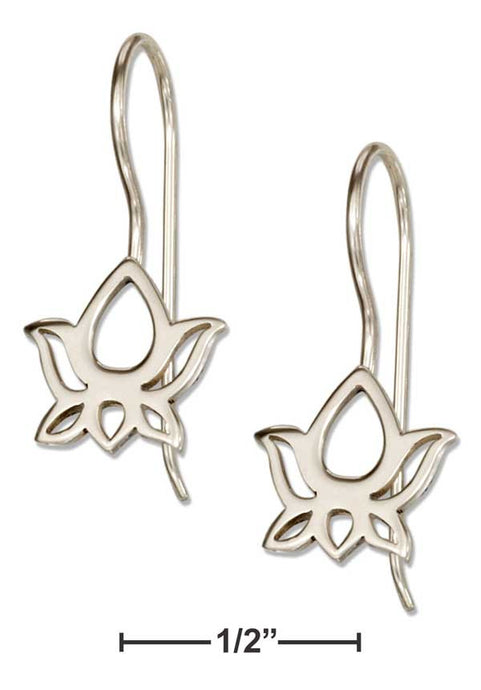 Sterling Silver Open Lotus Earrings - Sacred Lotus Gifts