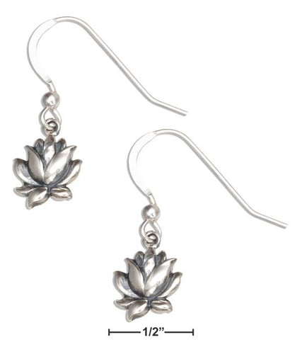 Sterling Silver Small Lotus Blossom Earrings - Sacred Lotus Gifts
