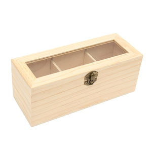 Tea box with 3 Compartments - Sacred Lotus Gifts