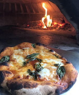The wood fire oven at Daily Bread - Pizza Night Friday