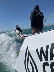 Wakesurfing session