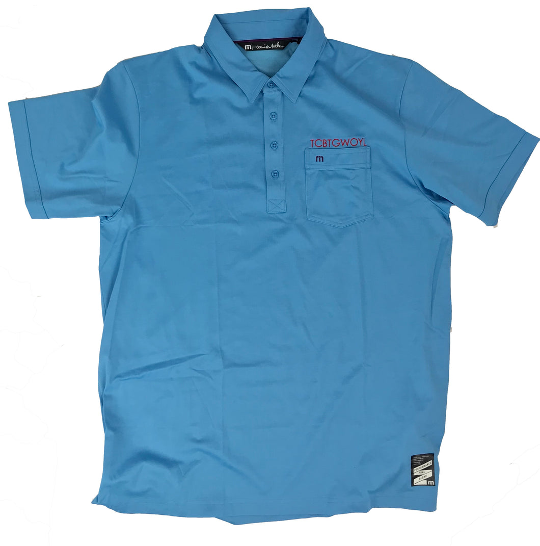 Travis Matthew, Short Sleeve Golf Shirt Light Blue