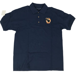 Short Sleeve Golf Shirt Navy Blue, Featherlite