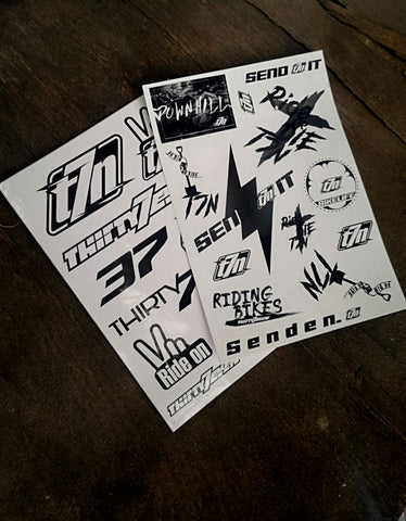 Image of Der T7N BikeLife Stickerbogen Deluxe - mit 12 Sticker