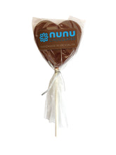Load image into Gallery viewer, Solid Chocolate Heart Lollipops