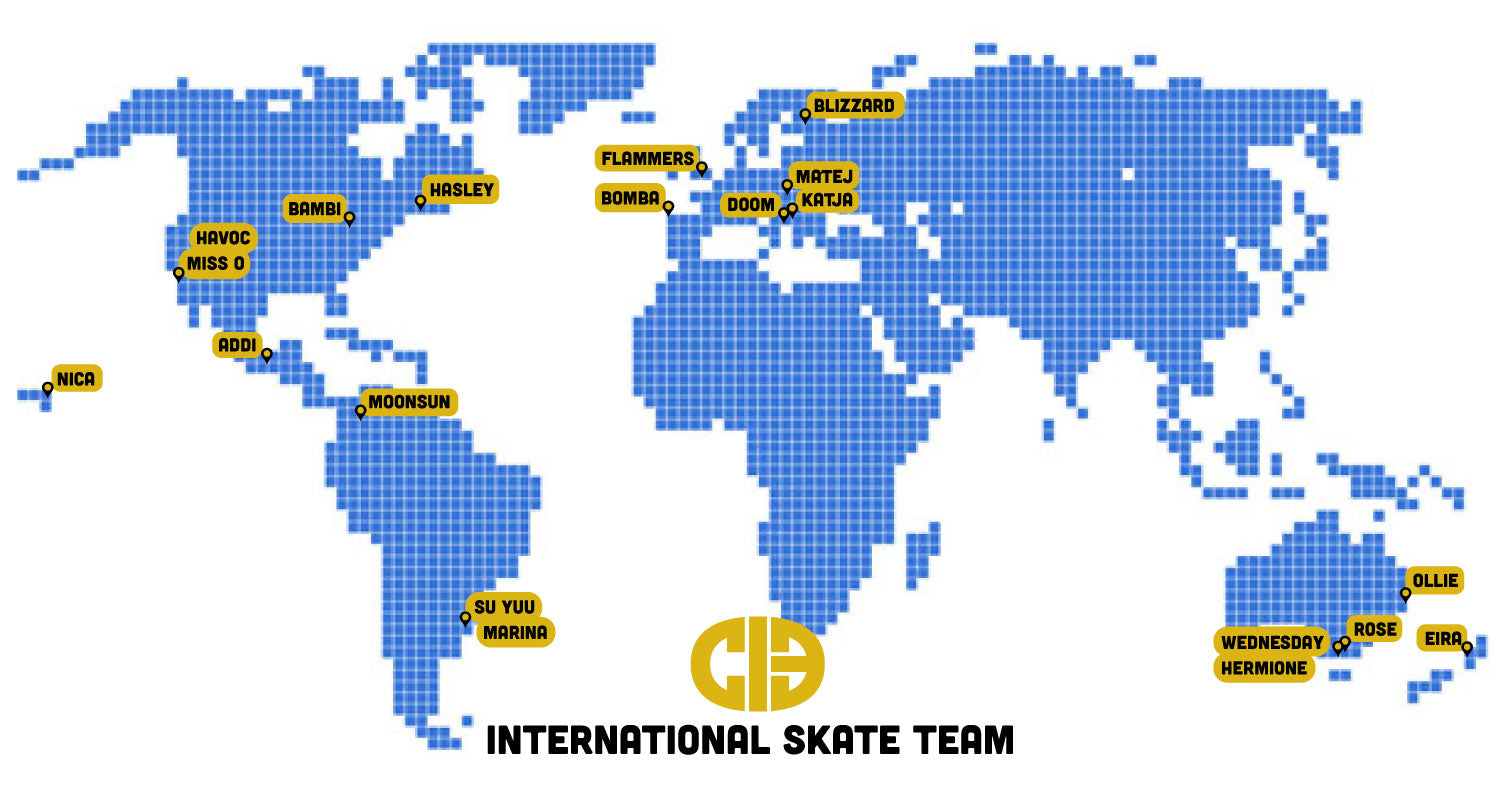 CIB Skate Team World Map