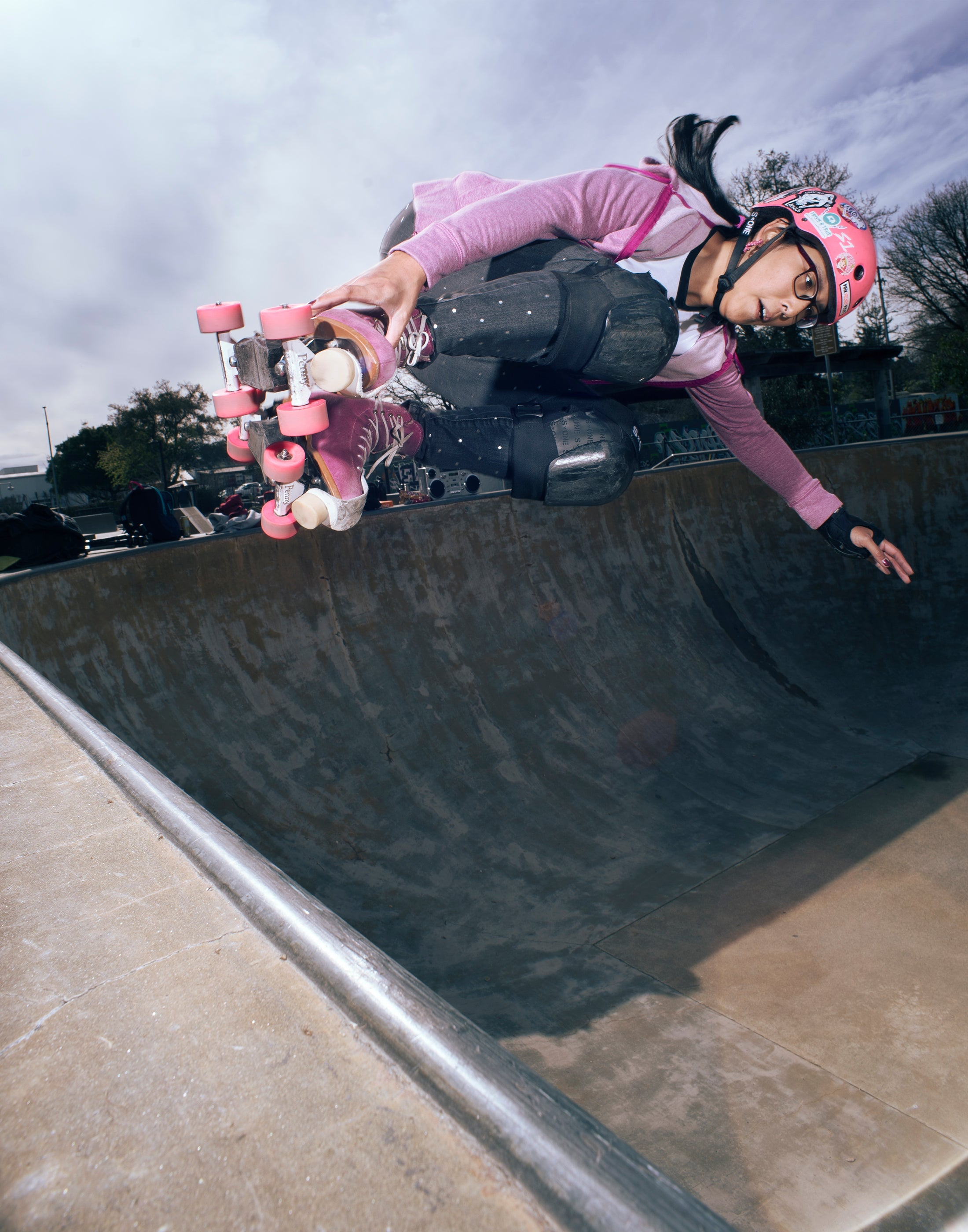 Lil Miss Fiasco with a massive air - Photo by Dave Rollins