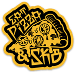 Pizza Stickers x 2