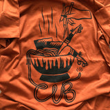 Chicks in Bowls Ramen loose tee in copper
