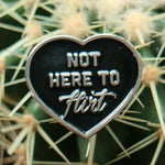 Chicks in Bowls Not Here to Flirt enamel pin