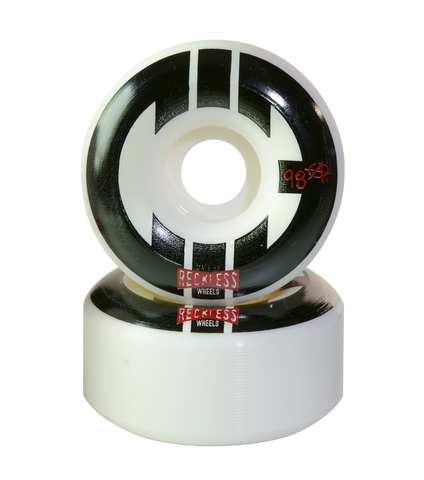 CIB Park Rollerskate Wheels in White with Black Logo