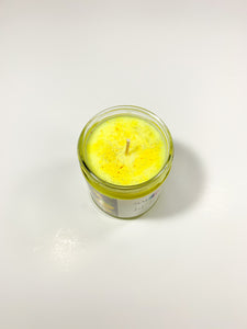 Lit Lemon Candle