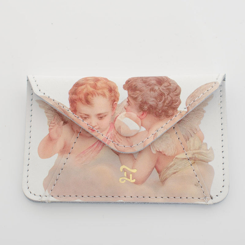 CARD WALLET ANGELS WHITE